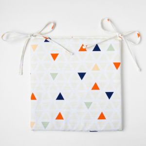Подушка на стул Этель «Треугольники», 32?32 см, репс, пл. 130 г/м?, 100% хлопок