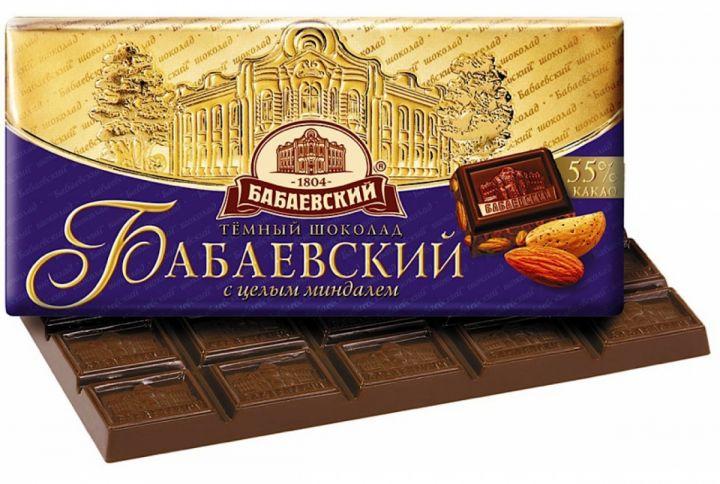 Шоколад Бабаевский горький с Миндалем 100г