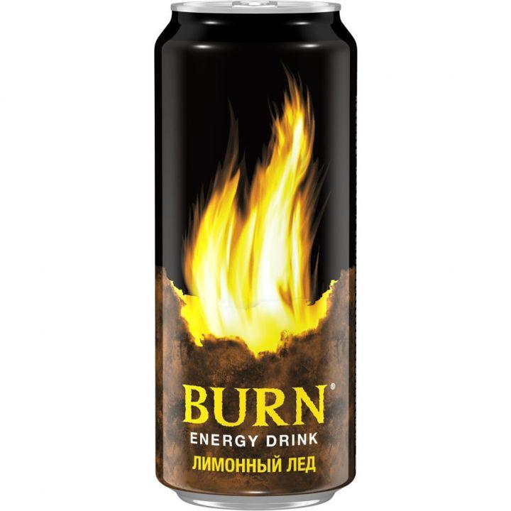 Напиток энерг Бёрн 0,449л ж/б Лимонный Лёд Кока-Кола