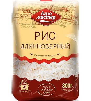 Крупа Агромастер Рис длиннозерный в/с 800г