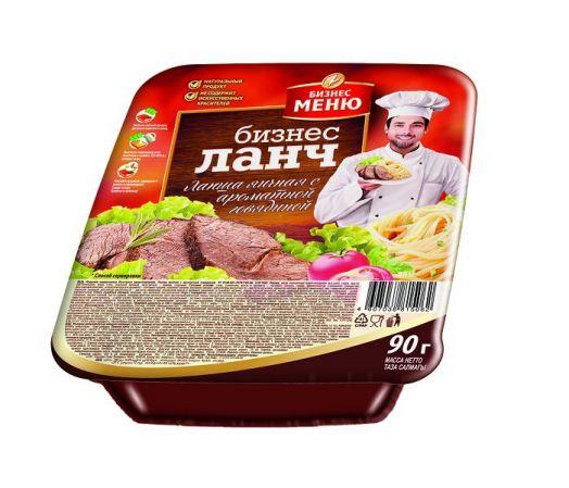 Лапша Бизнес Ланч яичная с ароматной говядиной, лоток, 90г