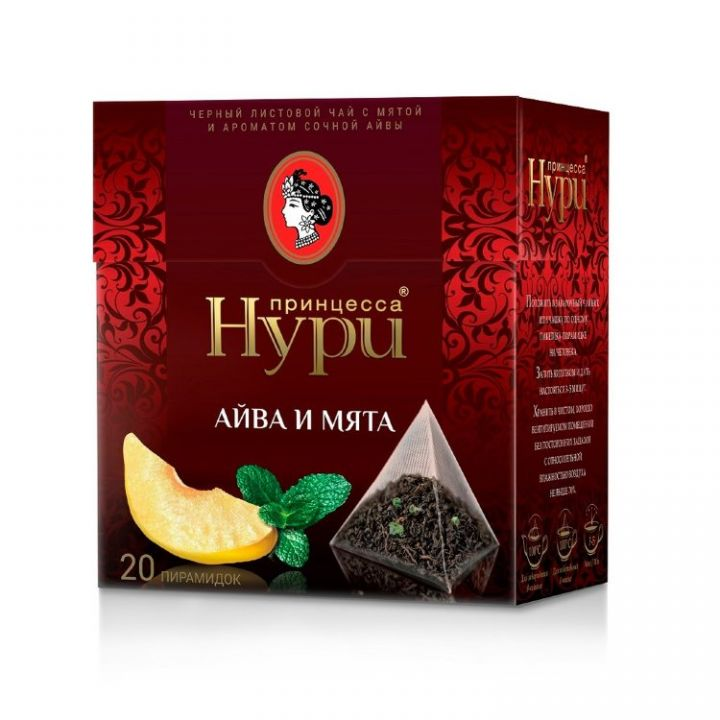Чай Принцесса Нури Айва и мята (пирамидки) 20пак*1,8г