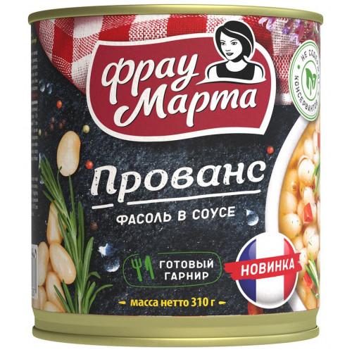 Фасоль Фрау Марта белая в соусе прованс ж/б, 310г
