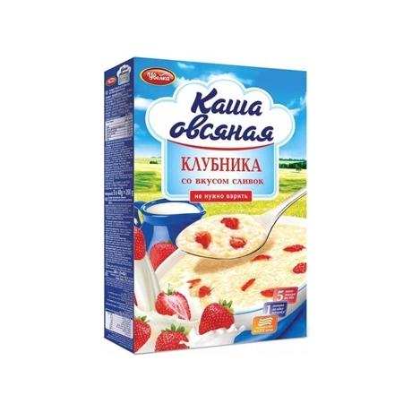 Каша Увелка (5*40г) 200г Овсяная клубника сливки