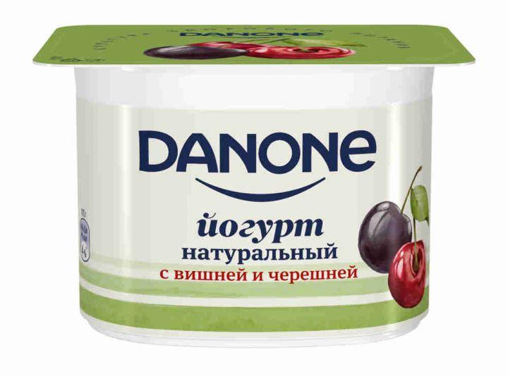Йогурт Данон 2,9% 110г Вишня/черешня