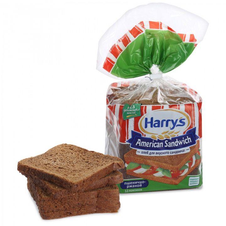 Хлеб Американские сэндвичи пшенично-ржаной 470г Харрис