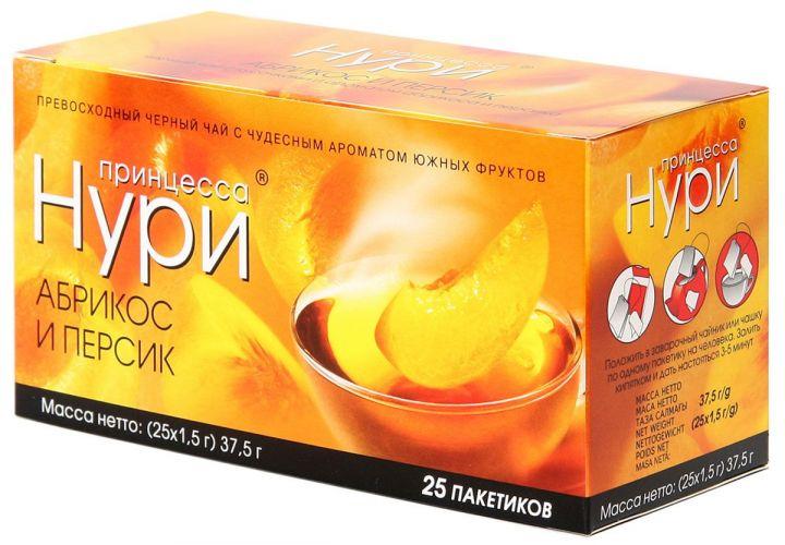 Чай Принцесса Нури персик/абрикос 25пак*1,5г