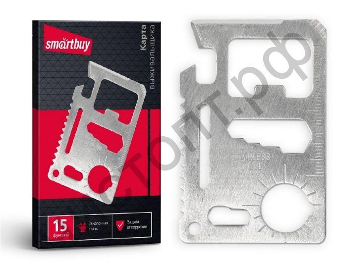 Нож-визитка 15 функций, размеры 45х70 Smartbuy tools (SBT-PSK-2)
