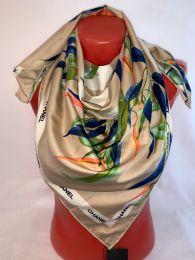 Шелковый платок Chanel с орхидеями, арт.075