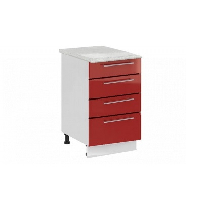 Шкаф нижний с 4 ящиками Ксения ШН4Я 800