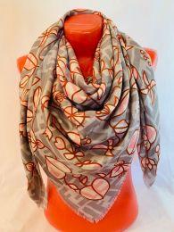 Бежево - розовый  платок Fendi, арт.095