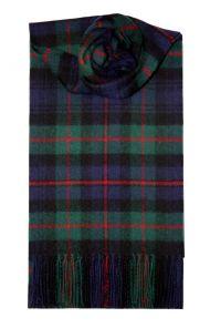 Шотландский теплый шарф 100% шерсть ягнёнка ,  клана Мюррэй из Атолла  MURRAY OF ATHOLL MODERN TARTAN LAMBSWOOL SCARF  плотность 6
