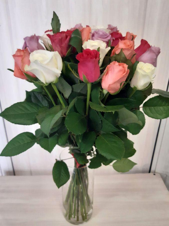 25 роз Микс (60 см)