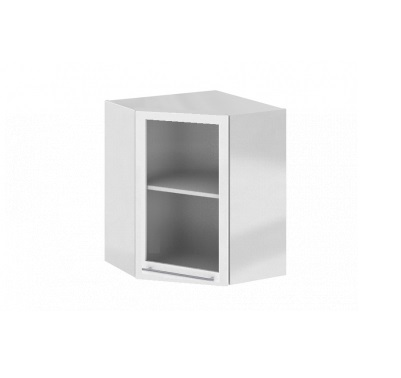 Шкаф верхний угловой со стеклом Ксения ШВУС 550