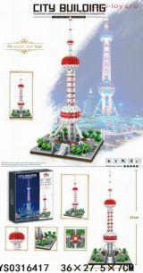 Конструктор LEZI Architecture Телебашня Восточная жемчужина LZ8006 (Аналог LEGO Creator) 1109 дет