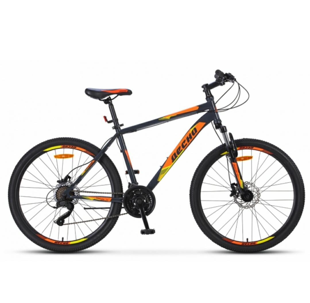 Горный (MTB) велосипед Stels 2610 D 26 (2019) Серый/оранжевый