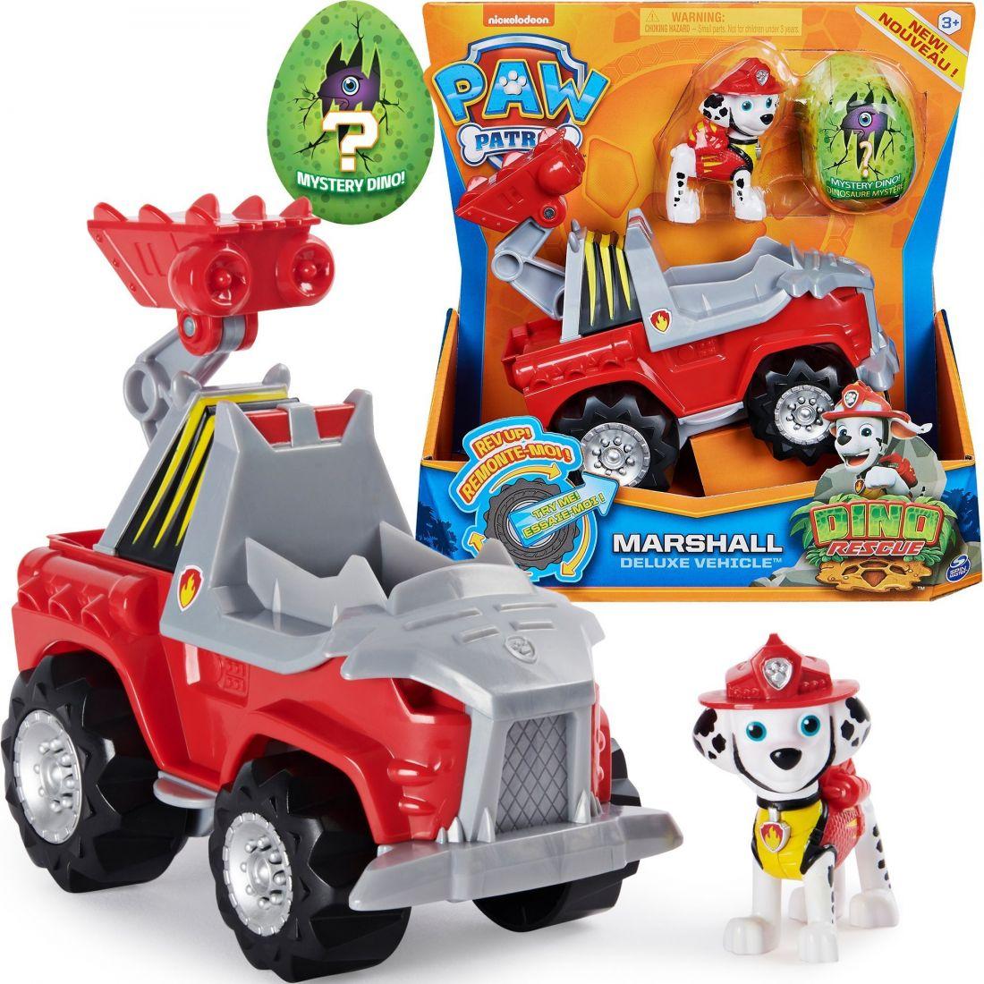 Щенячий патруль Paw Patrol Dino Rescue Marshall + пожарная машина + динозавр 6056930