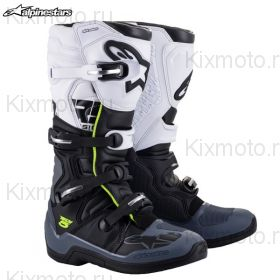 Ботинки Alpinestars Tech 5, Чёрно-бело-серые