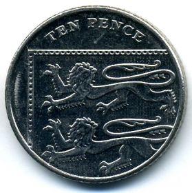 Великобритания 10 пенсов 2014