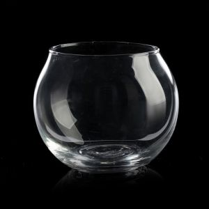 "Подсвечник стекло 1 свеча ""Прозрачный шар"" 5х6,5х6,5 см   3502176"