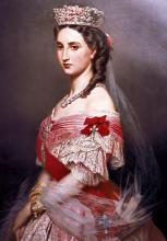 Шарлотта Бельгийская, императрица ( Репродукция Франц Ксавер Винтерхальтер)