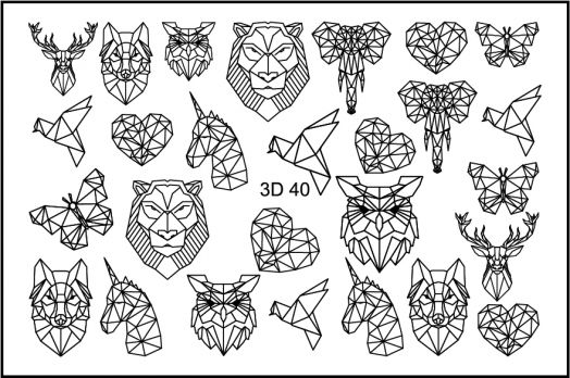 FREEDECOR 3D слайдер дизайн Арт. 3D-040 black Животные, птицы