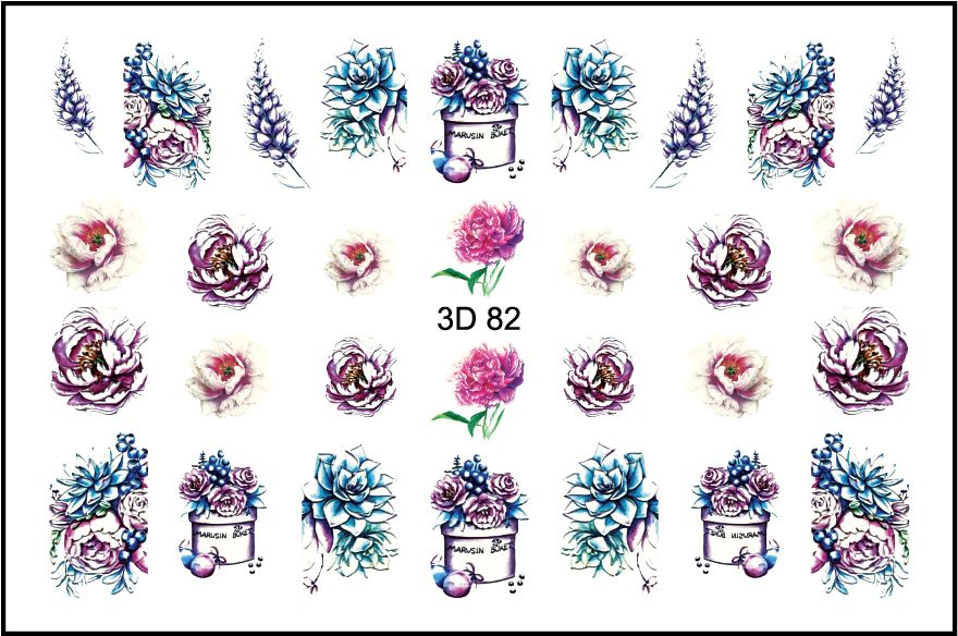 FREEDECOR 3D слайдер дизайн Арт. 3D-082 Цветы