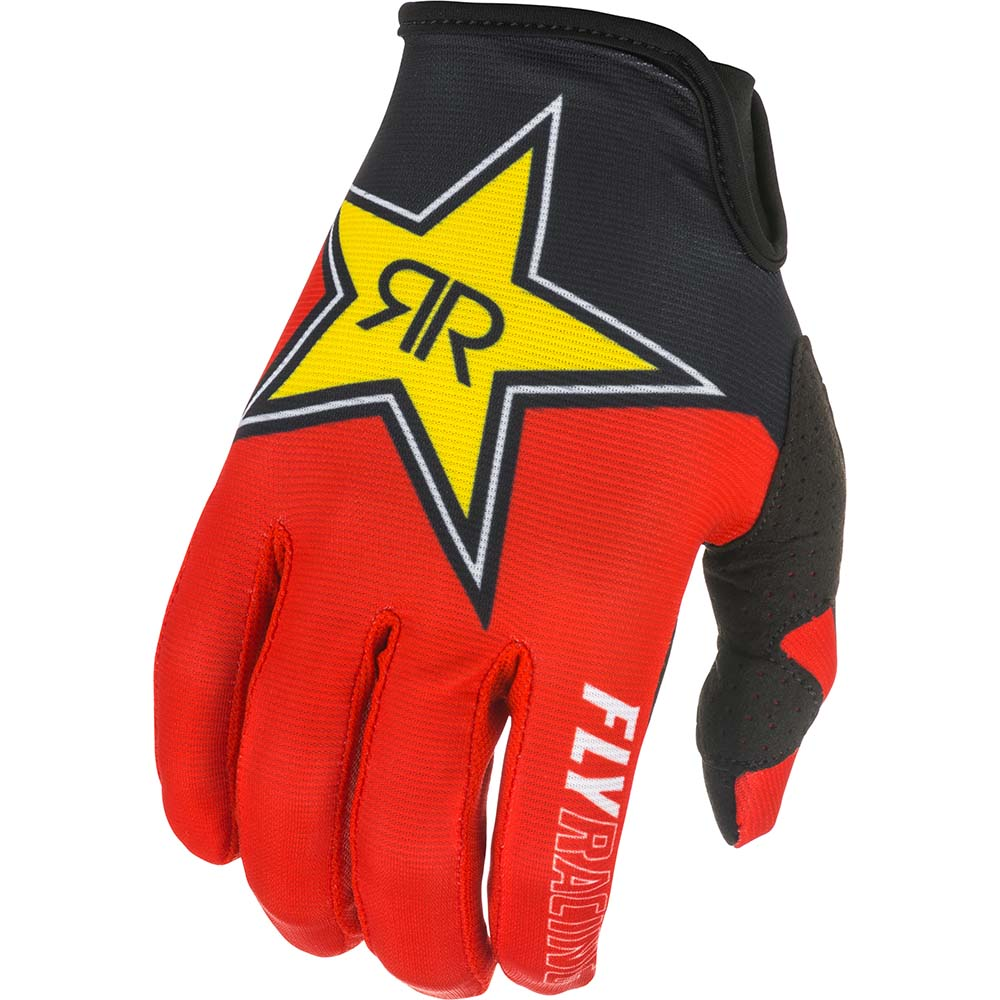 Fly Racing 2021 Lite Rockstar Black/Red/Yellow перчатки