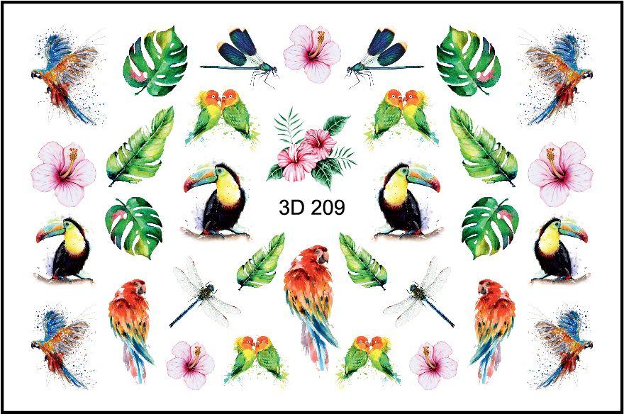 FREEDECOR 3D слайдер дизайн Арт. 3D-209 Животные, птицы