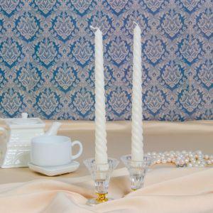 Свеча витая,2,5х 25 см, белая, 1745409