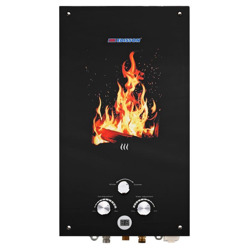 Проточный газовый водонагреватель Edisson Flame F 20 GD (Костер) (361103)