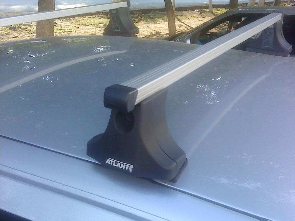 Багажник на крышу на ВАЗ 2110, 2112 (Атлант, Россия), прямоугольные дуги
