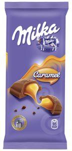 Шоколад MILKA 90г Молочный с карамельной начинкой