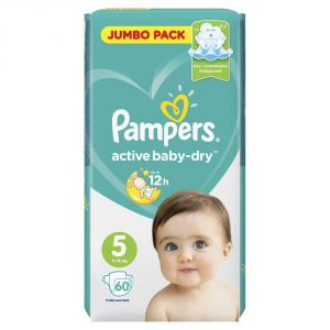 Подгузники PAMPERS Active Baby-Dry Junior 11-16кг 60шт
