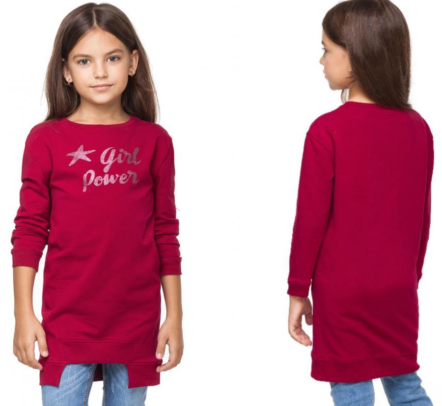 ДИСКОНТ VILATTE F42.075 Платье для девочки темно-розовый