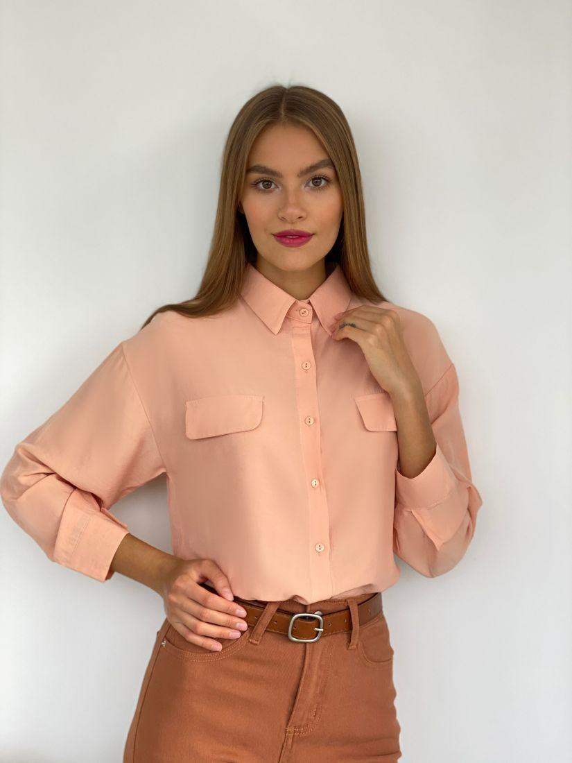 s2500 Рубашка с клапанами персиковая