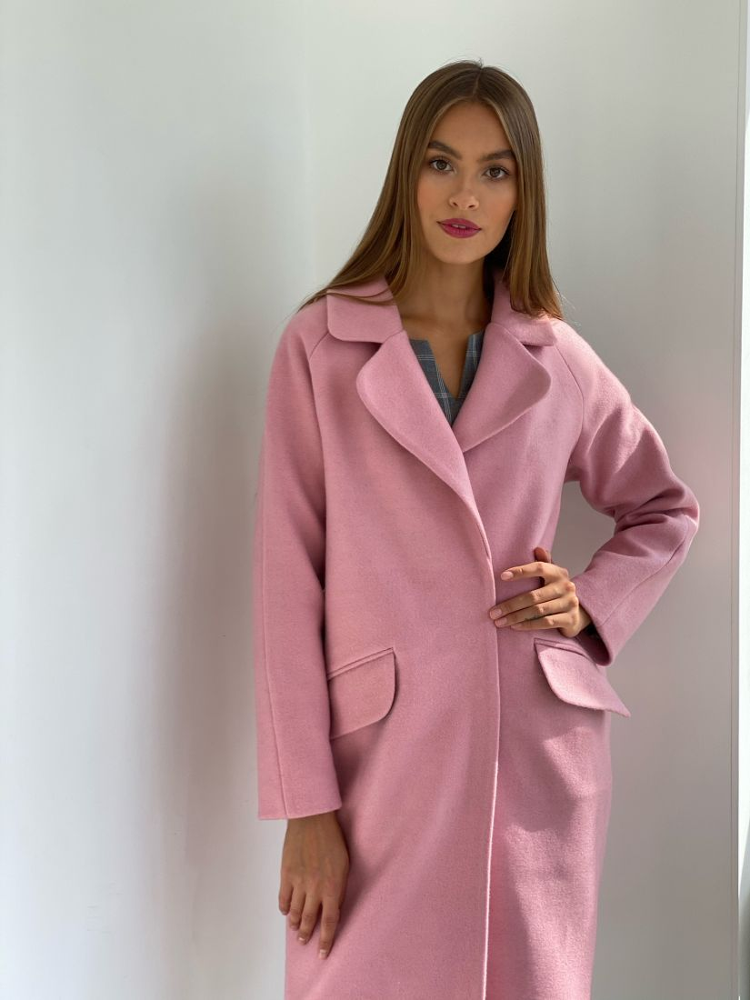 s2513 Пальто new cocoon в розовом цвете