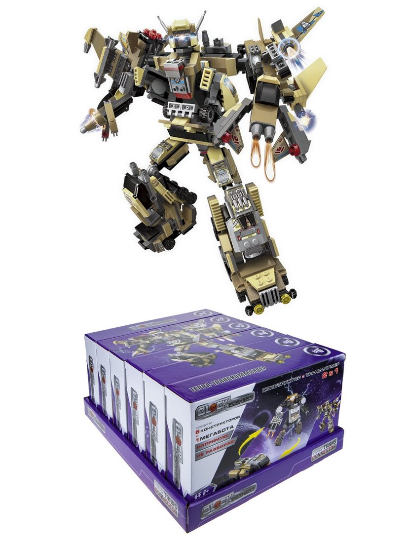 Конструктор Blockformers Терра-транскоммандер, в ассорт.