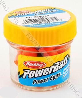 Искусственная икра Berkley PowerBait Magnum Floating Clr Grn - Fl Orange