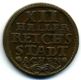 Германия Ахен 12 геллеров 1758