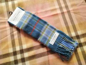 теплый шотландский шарф 100% шерсть ягнёнка , тартан шотландского города Масселборо  MUSSELBURGH TARTAN LAMBSWOOL SCARF