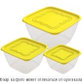 """Набор контейнеров для продуктов """"Пикник"""" №2 (СВЧ) 0,7л;1,5л;3,0л, шт"""