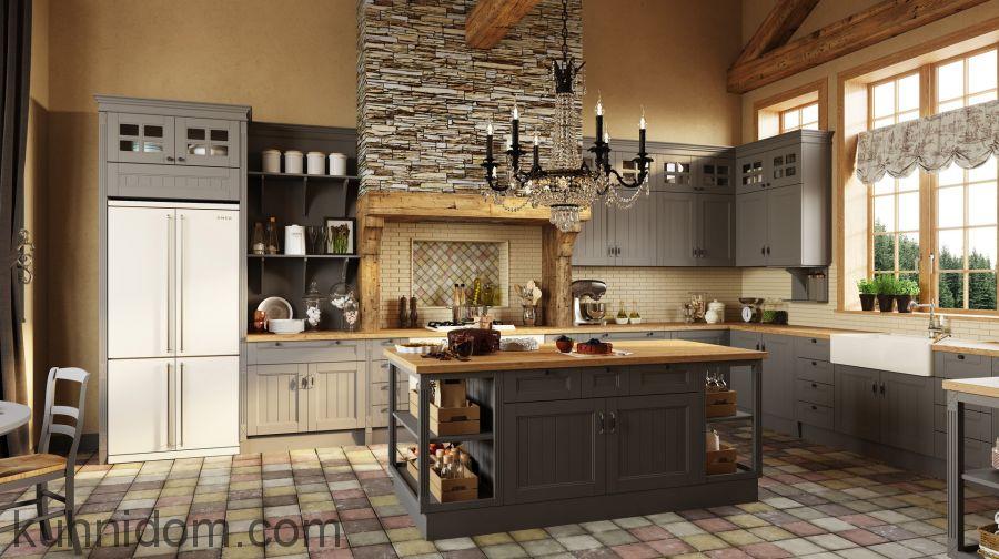 Кухня Villa (Вилла) серая