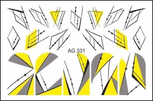 FREEDECOR Аэрография Слайдер дизайн Арт.AG-331 Геометрия