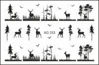 FREEDECOR Аэрография Слайдер дизайн Арт.AG-333 Животные, птицы