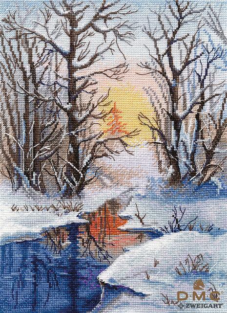 Набор для вышивания ОВЕН Зимний ручей (1334)
