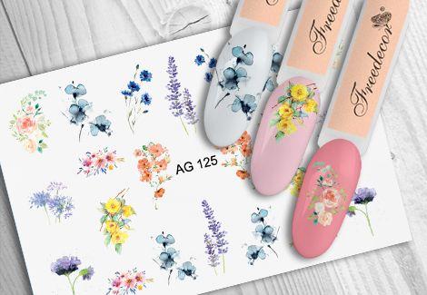 FREEDECOR Аэрография Слайдер дизайн Арт.AG-125 Цветы