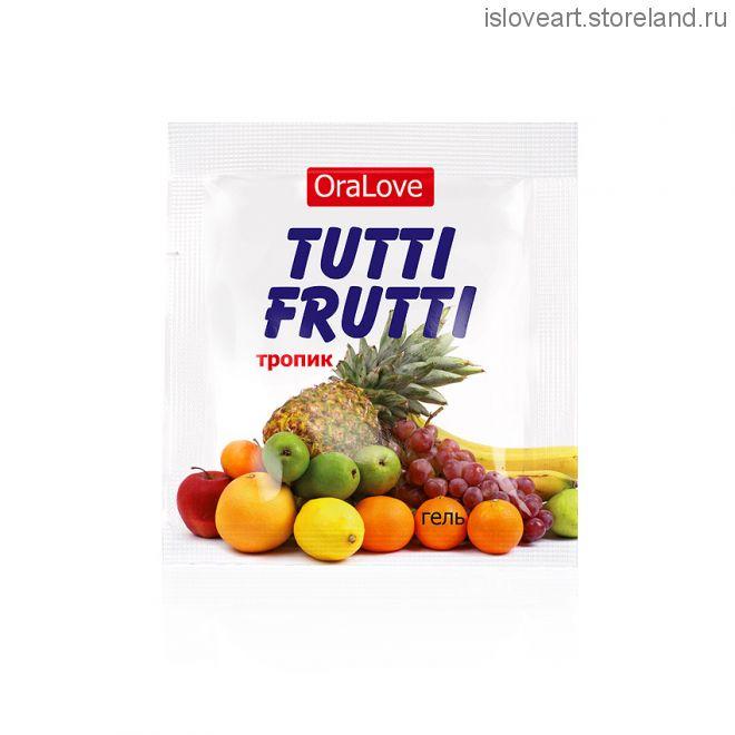 Гель TUTTI-FRUTTI ТРОПИК серии OraLove одноразовая упаковка 4 г