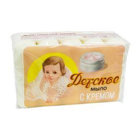Детское мыло с кремом, 5шт по 75г