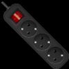 НОВИНКА. Удлинитель с заземлением G318 Выключатель, 1.8 м, 3 розетки,